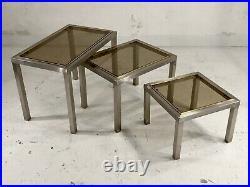 1970 JANSEN GUY LEFEVRE 3 TABLES BASSE GIGOGNE POST-MODERNISTE SPACE-AGE Kappa