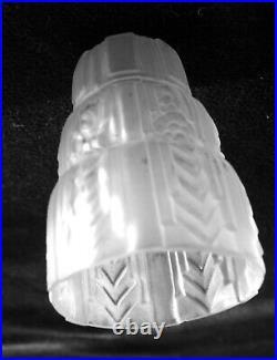 3 Tulipes lustre art déco en pâte de verre Muller Snyder Robert