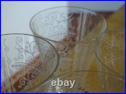 6 ANCIENS VERRES A VIN BLANC CRISTAL DE BACCARAT MODELE LIDO ART DECO ht 9,5 cm