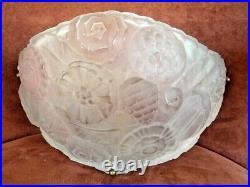 APPLIQUE SABINO art déco french glass verre moulé, daum, lalique, genet, hettier