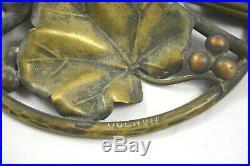 Ancienne Lampe Champignon En Pate De Verre Signe Quenvil No Daum Galle