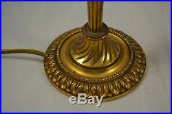 Ancienne Paire De Lampe En Bronze Et Pate De Verre Signe Degue Dlg Daum Galle