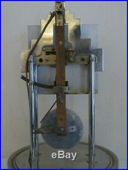 Ancienne Pendule Art Deco Electique 800 Jours Bulle Clock