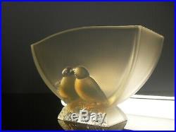 Art Déco Jardinière Vase Verre Moule Opalescent Verlys Etling Sabino Ezan