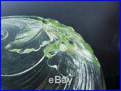 Art Déco Sabino Etling / Grand Coupe Verre Moule Orchidée Verlys France Signe