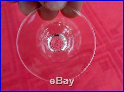 Baccarat Argentina 6 Wine Crystal Glasses Verre A Vin Cristal Gravé Art Deco B