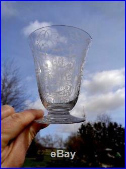 Baccarat Michelangelo Michel Ange Wine Glasses Verres Vin Cristal Gravé Art Deco