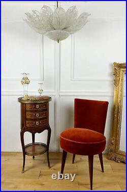 Barovier Et Toso Plafonnier / Lustre Des Années 70 En Verre De Murano