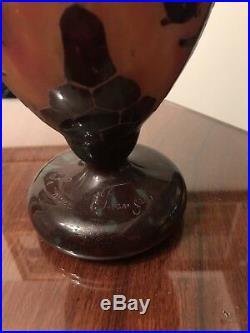 Beau vase Art déco Le Verre Français 26 Cm