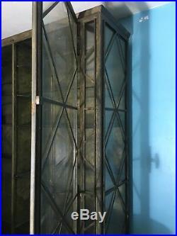 Bibliothèque vitrine Métallique et verre de style art deco