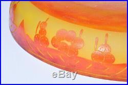 Coupe Plat Le Verre Français Art Déco Pate de verre Vase Cameo Glass Schneider