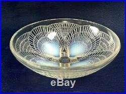 Coupe R. Lalique Opalescente Moulée Pressée Modèle Coquilles Art Déco 1930