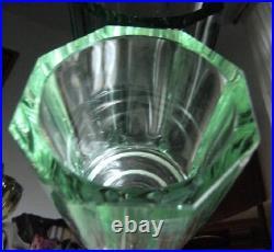 DAUM NANCY vase cristal vert art déco modernisme 1930/32 no pâte de verre Gallé