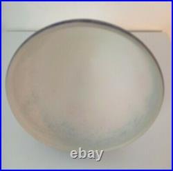 Dôme ou Obus en Pate de Verre Art Déco Blanc Moucheté de quatre Couleurs