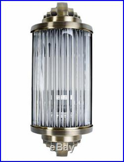 Éclairage de Cinéma Lampe en Verre Art Déco Applique Murale 20er Jahre Style