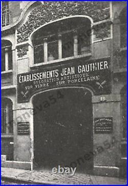 Ejg/j. Robert Paire Dappliques Art Déco En Bronze Nickelé Et Verre Pressé 1930