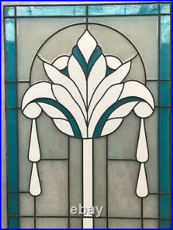 Grands vitraux verre opaline style art deco