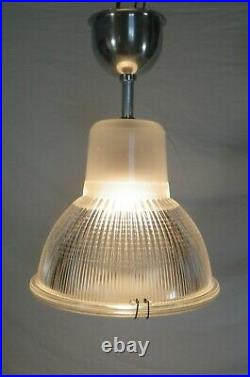HOLOPHANE ancien plafonnier lampe vintage 1950 déco industriel usine wall lamp