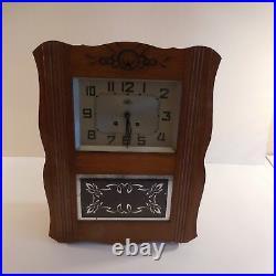 Horloge carillon mural MORBIER vintage art nouveau déco 1920 1940 France N2054
