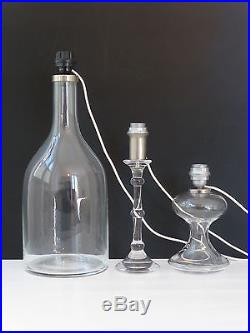 INGO MAURER EDITION M DESIGN SUITE DE 3 LAMPES VERRE 1960 VINTAGE DESIGN 60s
