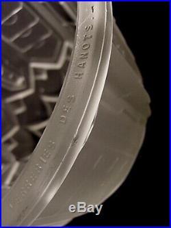 Jamain & Hanots Plafonnier Art Déco Bronze Nickelé Et Obus En Verre Pressé