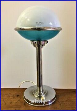 L. Bosi & Cie Lampe Art-Déco ILRIN-JLRIN modèle 135 années 30 Hauteur 38 cm