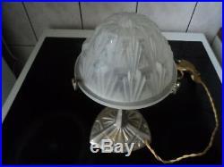 Lampe Art Deco Muller Degue Pate De Verre