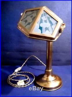 Lampe Pirouett Modèle De Bureau A Verres Decorés De Nuages & Rayons De Soleil