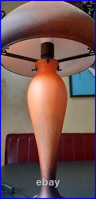 Lampe champignon pâte de verre