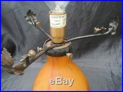 Lampe champignon pâte verre La Rochère lampe style art deco