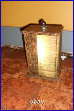 Lampe style art déco verre et palmier veilleuse moderniste cocotier Bauhaus lamp