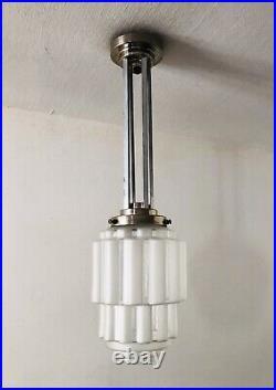 Lanterne/Suspension art déco Bauhaus gratte-ciel années 25/35