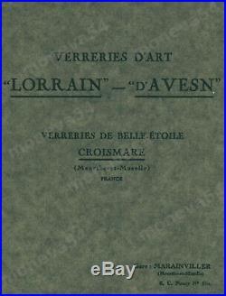 Lorrain Nancy Lustre Art Déco A Plaques Catalogué En Verre Pressé 1930
