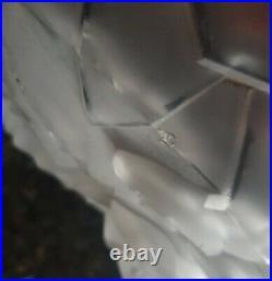 Lot de 2 Plaques Art Deco lustre applique verre moulé degué muller gilles