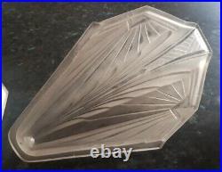 Lot de 3 Plaques Art Deco lustre applique verre moulé ejg degué muller j. Robert