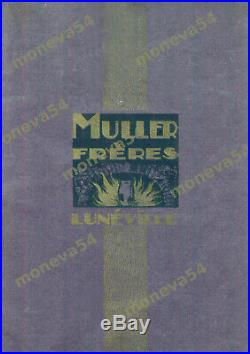 Muller Freres Lampe Art Déco Cataloguée Fer Forgé & Tulipe En Verre Pressé 1930
