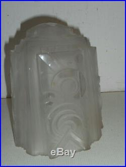 Muller, frères, Lunéville. Obut en verre ART DECO. Lampe, lustre, tulipe, vasque