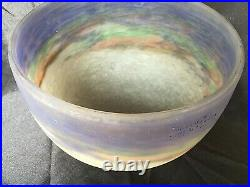 Muller freres obus vasque globe art deco nouveau pates de verre parfaite etat