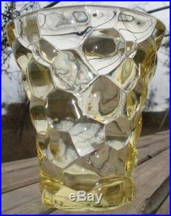 -P. D'Avesn Vase Verre Moulé Art Deco