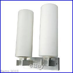 Paire D'appliques En Aluminium Et Opalines