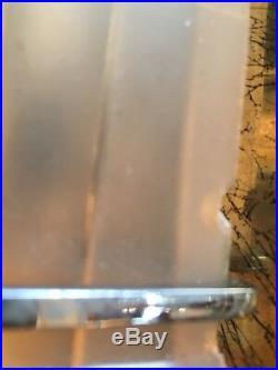 Paire Dappliques M Sabino Verre Pressé Bronze Signées 2 Fois