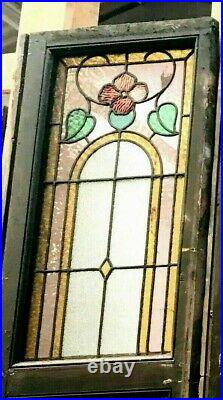 Panneau en vitrail composé de quatre éléments Art Déco vers 1900