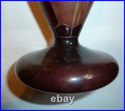 Pâte de verre vase le verre français Charles Schneider perlières Art déco 1925