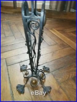 Pied de Lampe art déco pour DAUM NANCY GALLE DELATTRE MULLER PATE DE VERRE 40CM