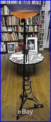 Pied e lampe pate de verre croismare muller ART DÉCO 1930 FRANÇAIS lampadaire