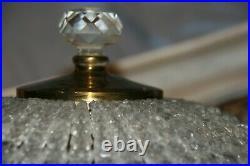 Plafonnier suspension lustre à pampilles en verre corbeille
