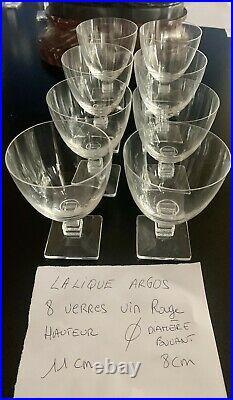 RARE SOMPTUEUX LALIQUE ARGOS SERVICE 49 VERRES ART DECO et 6 COUPES FRUITS RL