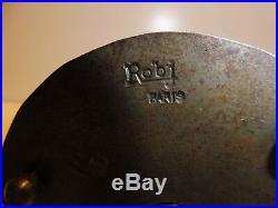 ROBJ Lampe veilleuse/Brule parfum, pate de verre et fer martelé SIGNEE 2 fois