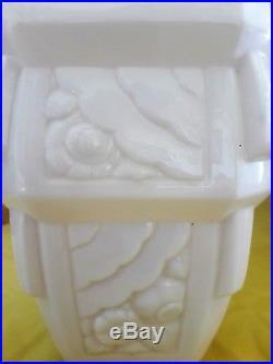 Rare grand vase en pâte de verre MULLER frères Lunéville Art Déco