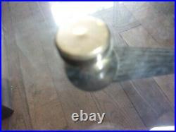 Rare table basse ronde verre laiton style spoutnik art deco ou apres